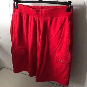 Men's red Nike sweat basket ball shorts
